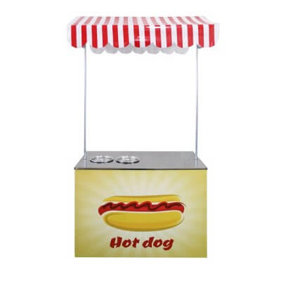 Barraca pequena de Hot Dog