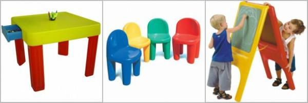 Mesinha Infantil - Freso l Cadeira Little - Mundo Azul l Quadro Escolar - Xalingo