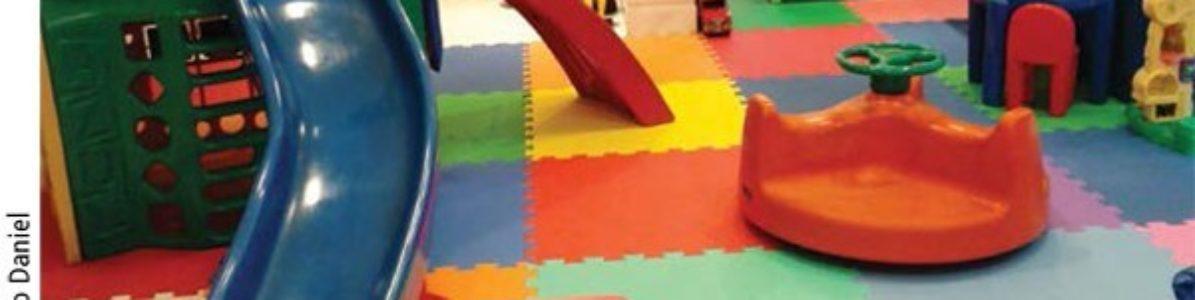 Piso emborrachado para playground é mais seguro