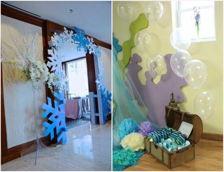 decoração de parede em festa