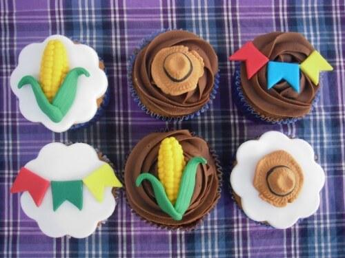 cupcake temático de festa junina