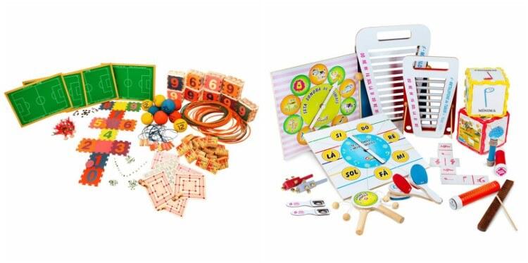 Kit de Brinquedos Recreação e Lazer Carlu