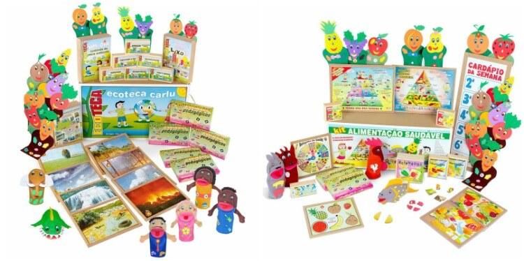 Kit de Brinquedos Ecoteca Carlu