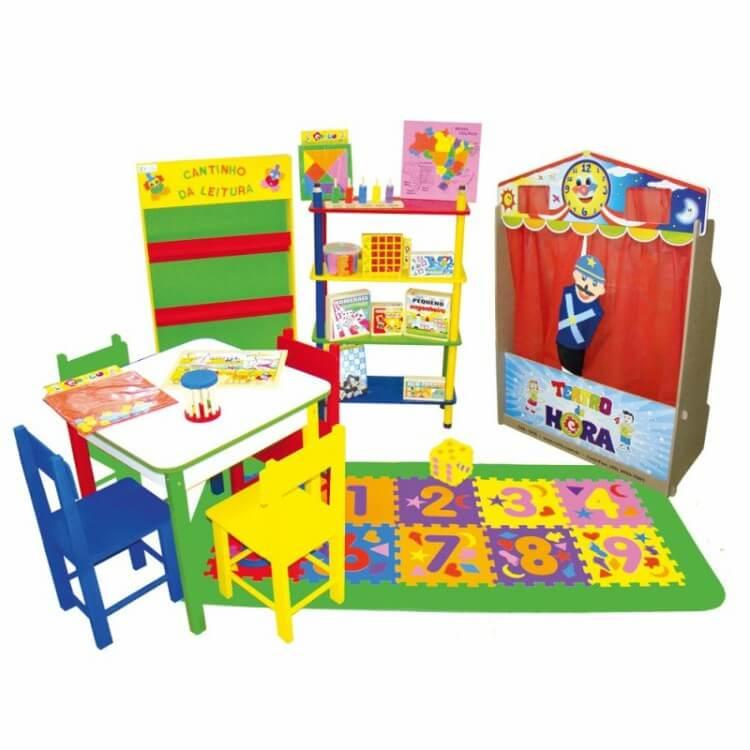 Conjunto de Brinquedos para Brinquedoteca Básica Carlu