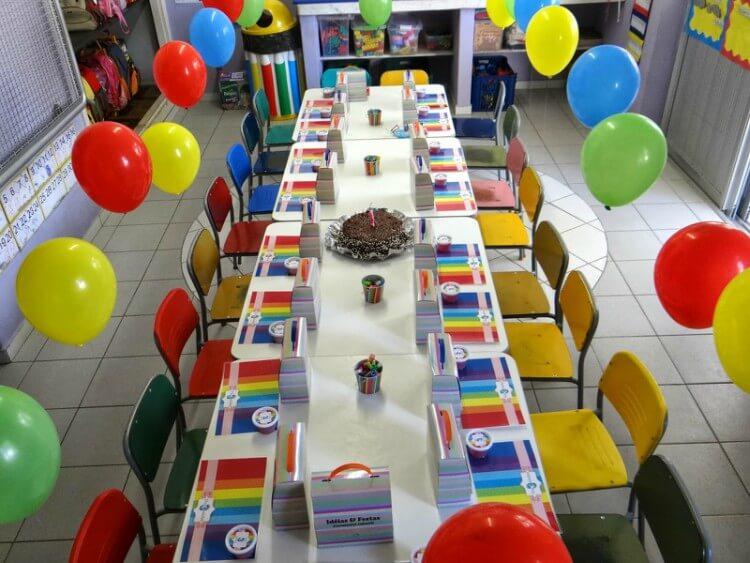 Decoração para festa na escola