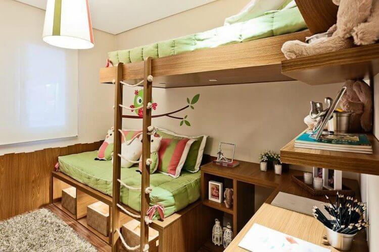 Como arrumar quarto pequeno para um casal de filhos