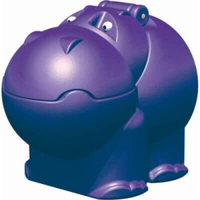 Baú infantil hipopótamo roxo da marca Xalingo