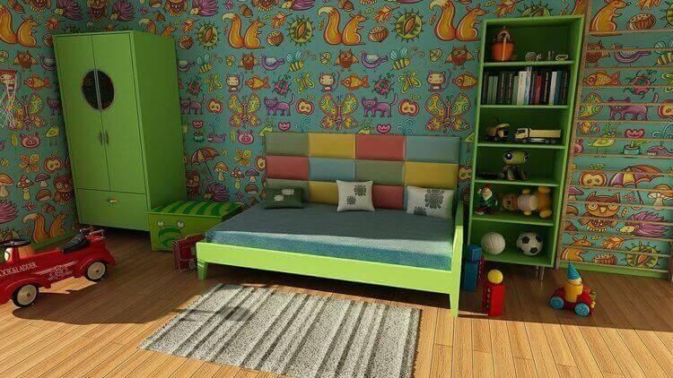 Móveis em quarto de criança